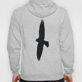 Jackdaw In Flight Silhouette Hoody