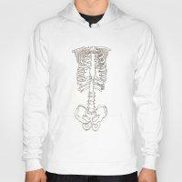 skeleton Hoodies featuring Skeleton. by Rebecca Louise