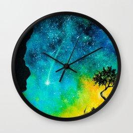 Lone Tree Sunset Wall Clock