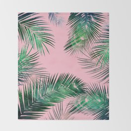 pink tropical Throw Blanket