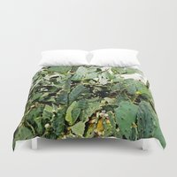 cacti Duvet Covers featuring Cacti by PoseManikin