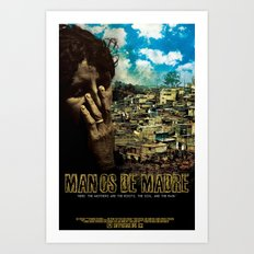 Manos De Madre Official Movie Poster Art Print