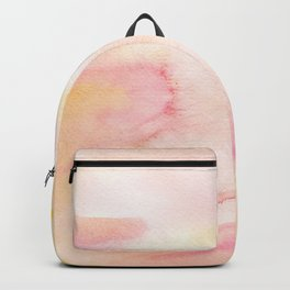 Abstract Peach Watercolor Backpack