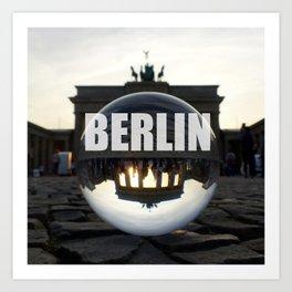 Brandenburg Gate sunset, Berlin Art Print