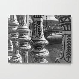 Black and White Seville Spain Travel Photo Series Metal Print