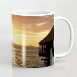 Tahiti Sunset with Kayakers over Water Coffee Mug