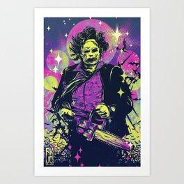 Neon Horror: Leatherface Art Print