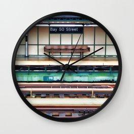 A platform bench Wall Clock
