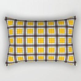 Amber Yellow Plaid Pattern Rectangular Pillow