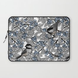 Chickadees on blueberry branches Laptop Sleeve