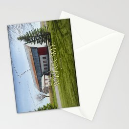Barn & Geese - Welcome Stationery Cards