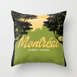 Montreal - Quebec - Canada Throw Pillow
