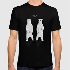 BIPOLAR BEAR Black 2X-LARGE Mens Fitted Tee
