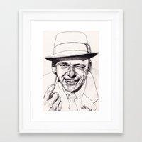 frank Framed Art Prints featuring Frank by Paul Nelson-Esch Art