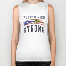 PUERTO RICO STRONG Biker Tank