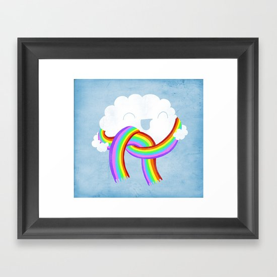 Mr clouds new scarf Framed Art Print