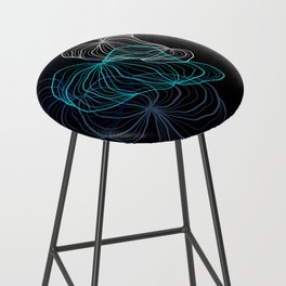 Gray, blue and white / digital drawing Bar Stool