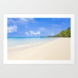 White Beach from the South end Art Print