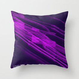 The Love Series 200 Purple Throw Pillow