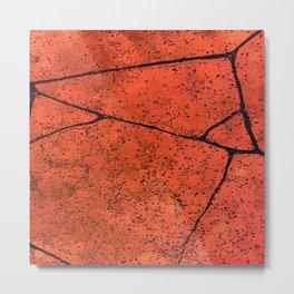 Up-Close abstract of cracked brick Metal Print