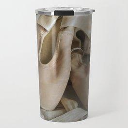 Creamy pointe ballet shoes Travel Mug