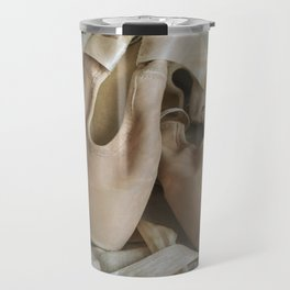 Creamy pointe ballet shoes Travel Mug