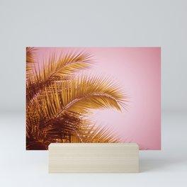 Rose Gold Tropics Mini Art Print