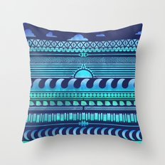 Aqua | Tribal Throw Pillow