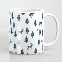 Woodland Pattern: Blue Buffalo Plaid Coffee Mug