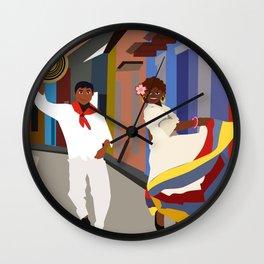 Colombian dance Wall Clock