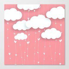 Raining Love Canvas Print