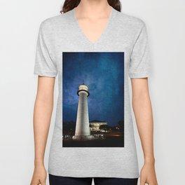 Lighthouse Blues Unisex V-Neck