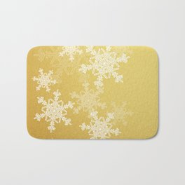 Golden snowflakes Bath Mat