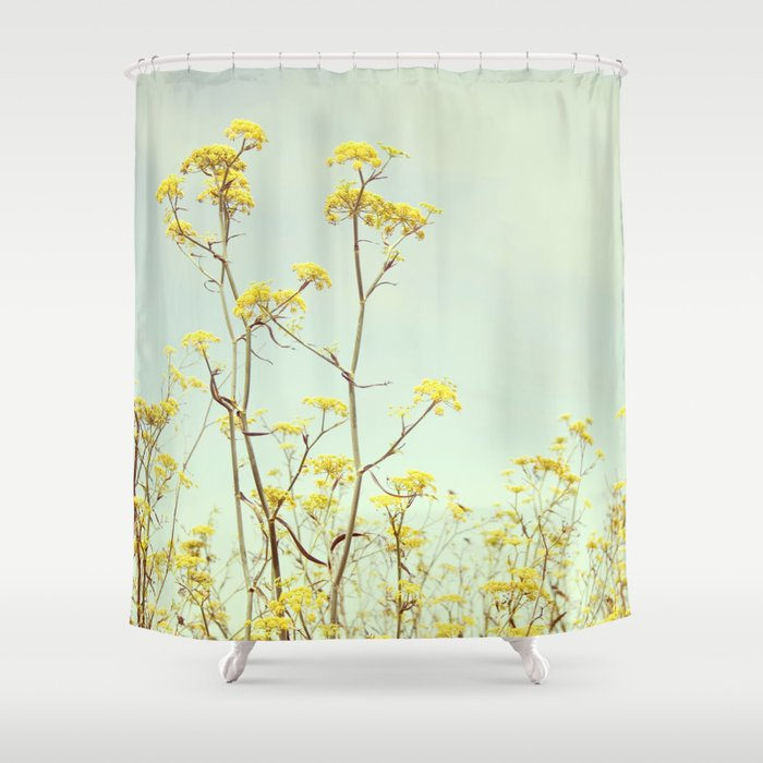 Yellow flowers shower curtain by mollyquist society6 yellow flowers shower curtain mightylinksfo