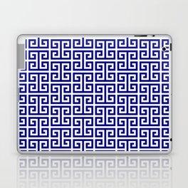 Navy and White Greek Key Pattern Laptop & iPad Skin