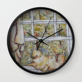 Lily, The Gazer Wall Clock