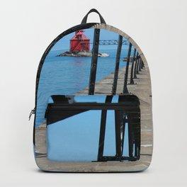 Canal Pierhead Light House Pier Backpack