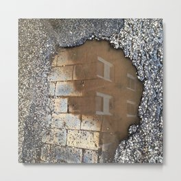 Brick Reflections Metal Print