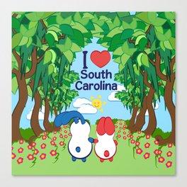 Ernest and Coraline | I love South Carolina Canvas Print