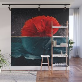 Red Siamese Fighting by GEN Z Wall Mural