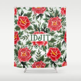 Idjit - Vintage Floral Tattoo Collection Shower Curtain