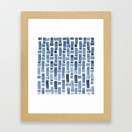 Blue Weave Framed Art Print
