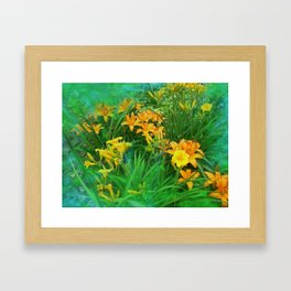 Day-glo Lilies Framed Art Print