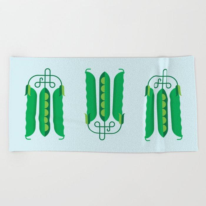 Vegetable Snap Pea Beach Towel By