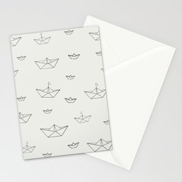 Paper ships Stationery Cards