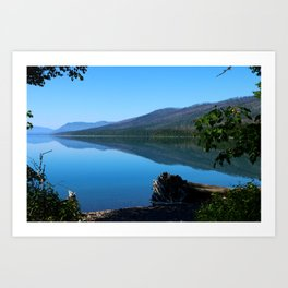 Lake McDonald Impression Art Print