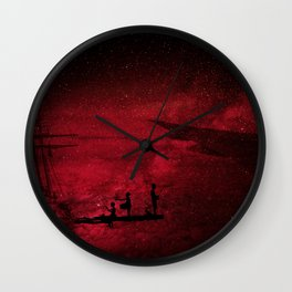 red flight Wall Clock