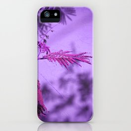 Silk Tree Leaves #11 with Poem iPhone Case