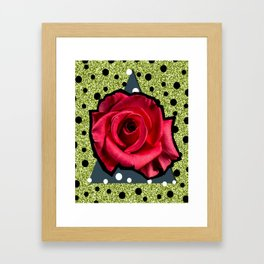 POP ROSE Framed Art Print