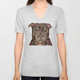Sallie the dog Unisex V-Neck